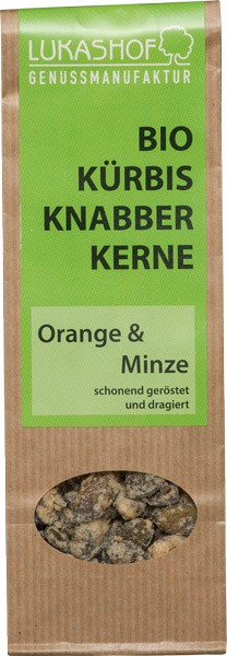 Bio Kürbisknabberkerne Orange-Minze 80g